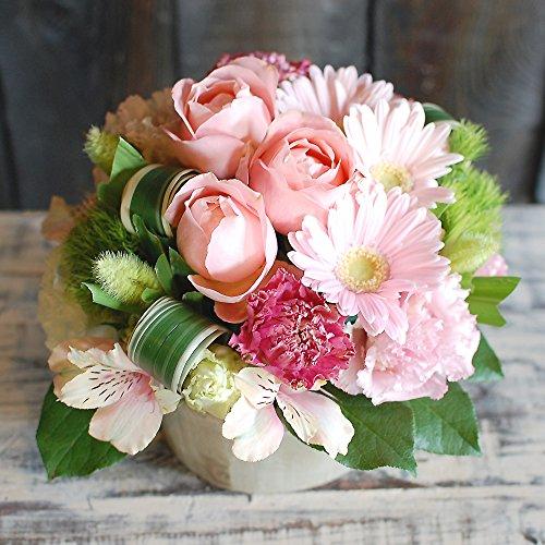 パラボッセ フラワーアレンジメント おまかせSサイズ ピンク系 19cmx19cmx15cm flower arrangements pink