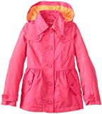 London Fog Girls 7-16 Classic Anorak with Contrast Liner