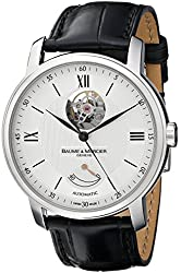 Baume & Mercier Men's MOA08869 Automatic Stainless Steel with Synthetic leather Black Crocodile Band Watch