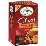 Twinings Pumpkin Spice Chai Tea, 40 Count