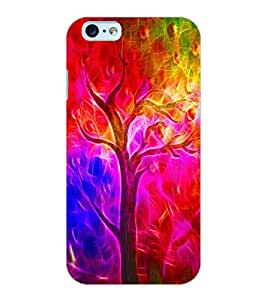 ColourCraft Colourful Tree Design Back Case Cover for APPLE IPHONE 6