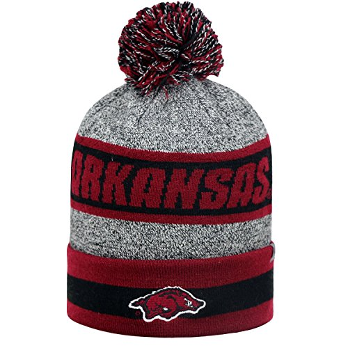 tow-top-of-the-world-ncaa-cumulus-striped-cuffed-knit-adult-beanie-hat-cap-arkansas-razorbacks