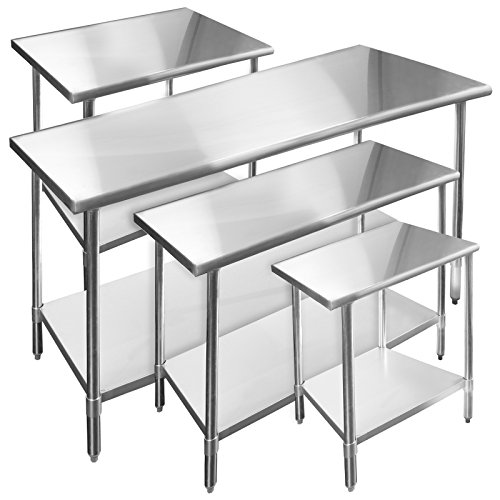 Best stainless steel prep table reviews 2017 stainless steel work tables with drawers wheels - Commercial kitchen tables on wheels ...