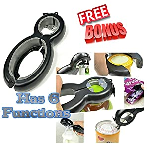 Kitchen Krush Jar Lid Bottle Opener Combo Set 10 Function Kitchen Gadget Pull Tab Opener Seal Remover Lid Twist Off Food Package Opener High Quality Money Back Guarantee Perfect Kitchen Tools