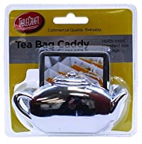 Tablecraft H1232H Tea Bag Caddy, Small, Silver