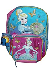 """Cinderella Backpack with Lunch Bag-16"""""""