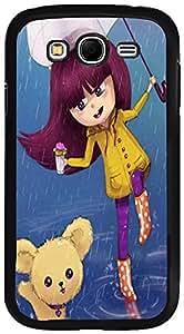 PrintVisa Case Cover for Samsung Galaxy Grand (D7696 Cartoon Rainy Girl)