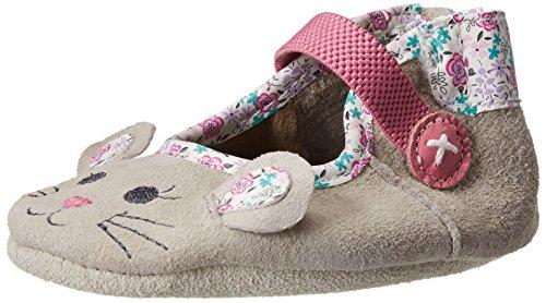 Robeez Mouse Crib Shoe (Infant/Toddler),Grey,12-18 Months M Us
