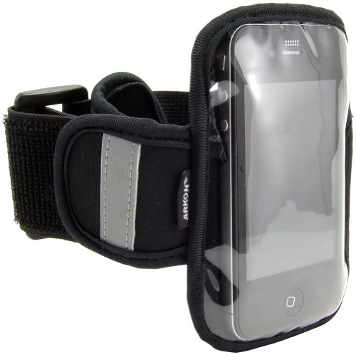 Arkon Sports Armband For All Iphone Models - 1 Pack - Retail Packaging-Black