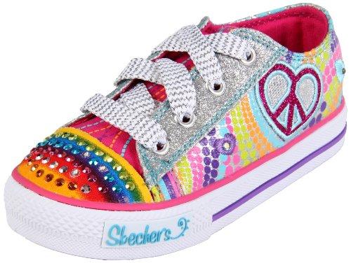 Skechers ShufflesHeart Sparks 10194L,  Sneaker ragazza,  Argento (Silber (SMLT)), 31