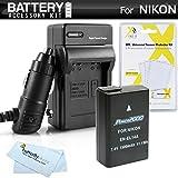 Battery And Charger Kit For Nikon D5300, D3300, D5200, P7700, D5100, D3100, D3200, Nikon Df Digital SLR Camera Includes Extended (1500Mah) Replacement For Nikon EN-EL14. EN-EL14a Battery (Fully Decoded!) + Ac/Dc Travel Charger + MicroFiber Cloth + More