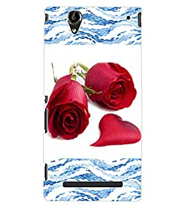 ColourCraft Beautiful Roses Design Back Case Cover for SONY XPERIA T2 ULTRA
