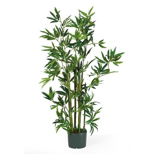 New Nearly Natural 4′ Bamboo Silk Plant Elegant Realistic Look Feel Attractive Wonderful Pretty