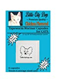 Little City Dogs CHICKEN FLAVORED Praziquantel Tapeworm Wormer Capsules for Cats (6 Capsules)