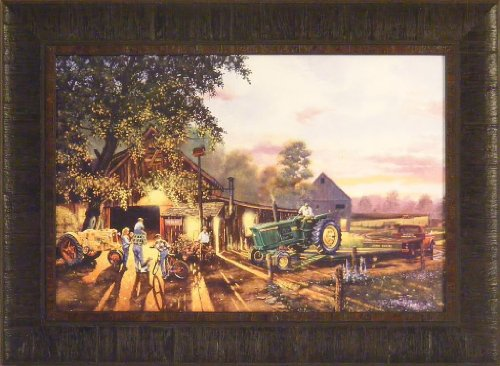 Once In A Lifetime By Dave Barnhouse 17X23 John Deere Tractor Farm Barn Country Americana Framed Art Print Picture