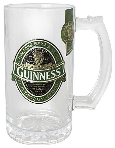 48b54740c1fef8 Chope Guinness Irlande Collector avec étiquette Guinness Irlande en relief