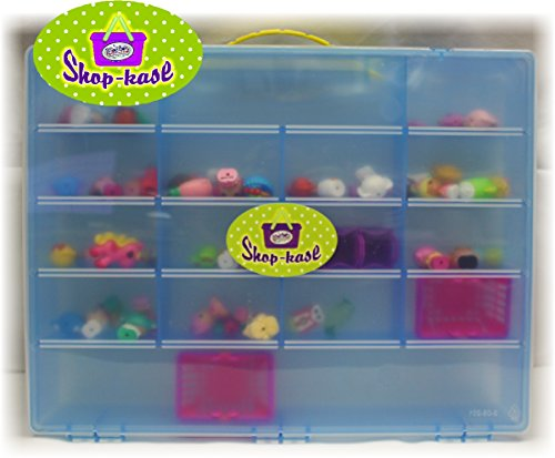 Mattys Toy Stop Mattys Toy Stop Shop Kase Shopkins Compatible Storage Container, Organizer & Carry Case Blue