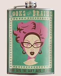 Trixie & Milo Looks & Brains Flask by Trixie & Milo