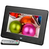 Micca M707z 7-Inch 800x480 High Resolution Digital Photo Frame With Auto On/Off Timer, MP3 and Video Player (Black)