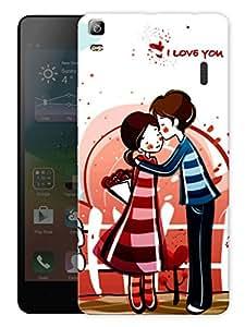 "Humor Gang Love Couple Cute Printed Designer Mobile Back Cover For ""Lenovo A7000 - Lenovo A7000 Plus - Lenovo A7000 Turbo - Lenovo K3 Note"" (3D, Matte, Premium Quality Snap On Case)"