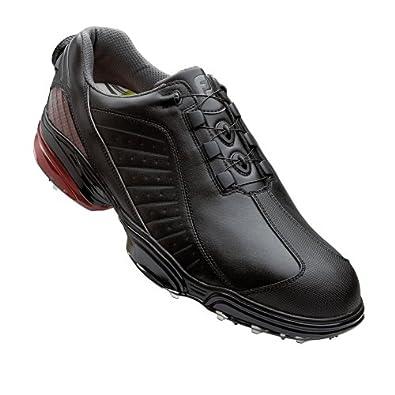FootJoy FJ Sport BOA Golf Shoes Black - Black - Crimson : 8.5 M