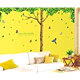 Oren Empower 3pc/set (Pack Of 3 Sheets) Extra Large Big Green Tree Wall Sticker (Finished Size On Wall - 330(w...