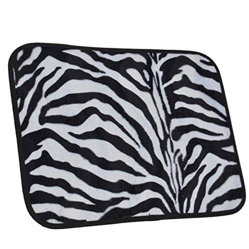 A set of 4 universal fit animal print carpet floor mats for Zebra print flooring