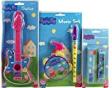Peppa Pig 5 Piece Music Set Toy - Tamborine, Harmonica, Guitar, Flute, Whistle