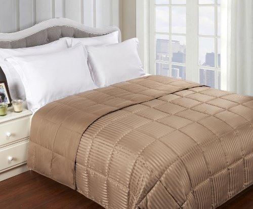 Grand Down All Season Down Alternative Twin/Twin Xl Reversible Blanket, Taupe front-612261