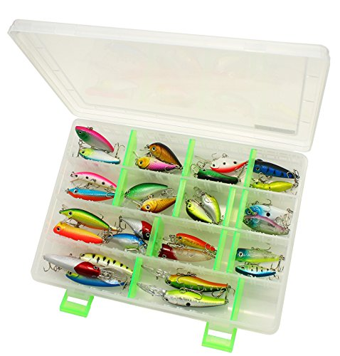 LotFancy Storage Box and 30 PCS Fishing Lures Crankbaits Hooks Minnow Baits Tackle, Length From 1.57 to 3.66 Inches (Various, Storage Case+30PCS Fishing Lures) (Fishing Bait compare prices)
