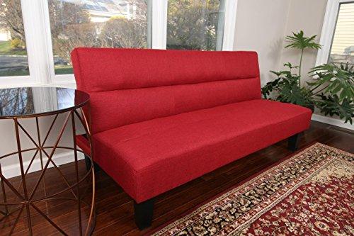 home-life-textured-linen-sofa-futon-with-adjustable-back-klik-klak-bed-sleeper-convertible-65-wide-r