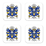 Dyfrig Dubricius Saint Family Crest Square Coasters Coat of Arms Coasters - Set of 4