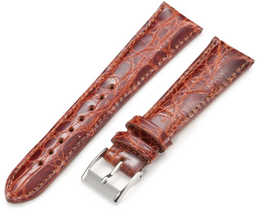 Artisan Of Italy Citpd400-0320Mr Men'S Dress Padded Crocodile 20Mm Tan Watch Strap