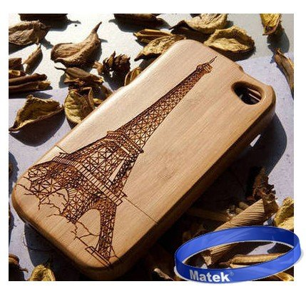 51It6r1LycL # Matek: Eiffel tower Real Natural Bamboo Wood Wooden Hard Case Cover iPhone 4 4S 4G ,177 Big Sale