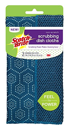 Scotch-Brite Reusable Dishcloth, Navy, 2 Count