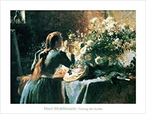 Posters: Mortelmans Poster Art Print - Visiting The Studio (28 x 22 inches)