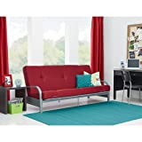 Sofa Futon Bed Sleeper Living Room Furniture Modern Chair Contemporary Couch Red Settee Fabric