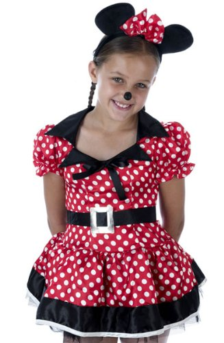 Girls Minnie Mouse Fancy Dress Costume 6-8 Years.