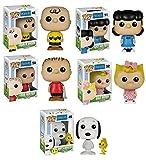 Funko POP! Peanuts: Charlie Brown + Linus Van Pelt + Lucy Van Pelt + Sally Brown + Snoopy & Woodstock- Vinyl Figure Set NEW