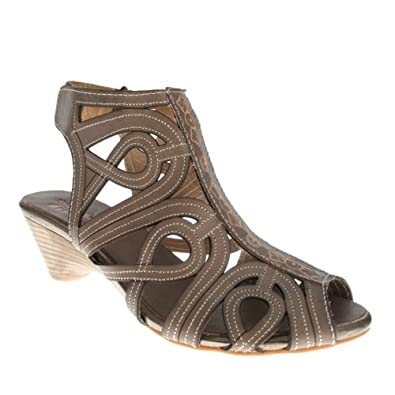 Spring Step Flourish Women's Gray Leather Sandal 35 M EU