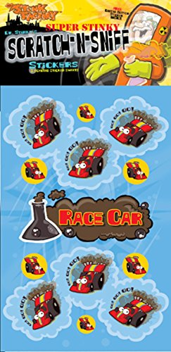 Scratch-N-Sniff Stickers- Race Car