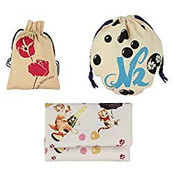 Friends Of Meditation Pack of 3 Jewellery Pouches