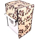 Dream Care Leafy Brown Printed Waterproof & Dustproof Washing Machine Cover For IFB Front Load Senorita-SX 6.5kg Washing Machine