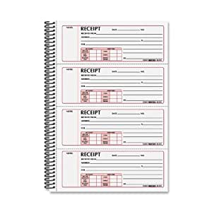 Rediform Gold Standard Carbonless 2 3/4 x 7 Inch Money Receipt Book (8L810)