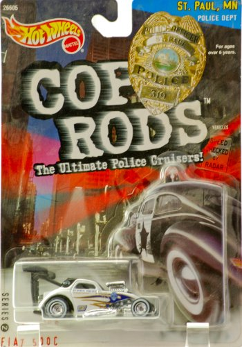 Hot Wheels 1999 Series 2 Cop Rods: St. Paul MN Fiat 500C
