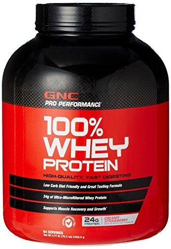 gnc-pro-performance-100-whey-protein-creamy-strawberry-477-lb-by-gnc-pro-performance