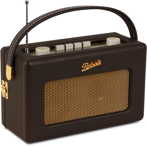 Roberts RD60 Revival DAB/FM RDS Digital Radio with Up to 120 Hours Battery Life - Cocoa