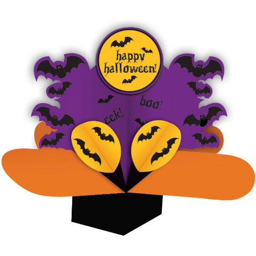 Creative Converting Halloween Dimensional Pop-Out Style Spooky Bats Centerpiece - 1
