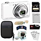 Sony Cyber-shot DSC-WX80/W 16.2MP Wi-Fi Digital Camera with 8x Optical Zoom in White + Sony 16GB SDHC Class 10 + Sony Camera Case + Replacement NP-BN1 Battery + USB Card Reader + Accessory Kit