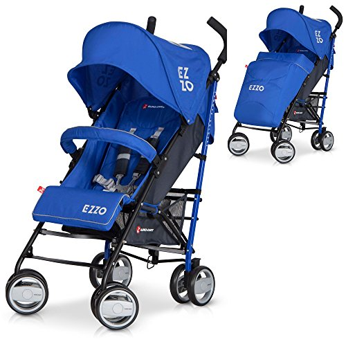 LCP Kids - Passeggino EZZO Saffiro passeggino sportivo pieghevole in alluminio con schienale regolabile